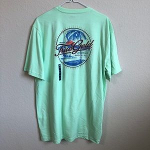 Izod Saltwater Relaxed Boat Graphic T-Shirt NWT